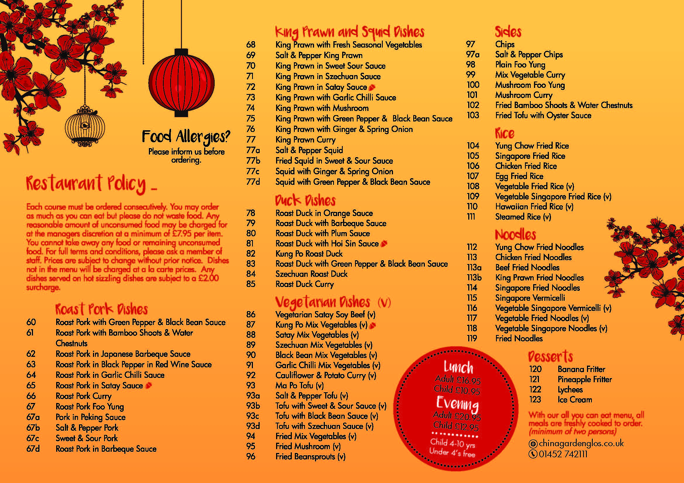 China Garden Possibly The Finest Chinese Food In Gloucestershire